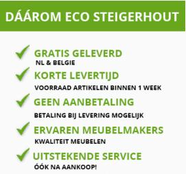 Ecosteigerhout - Tuinset steierhout